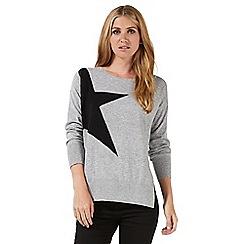 Nine by Savannah Miller - Grey star print jumper