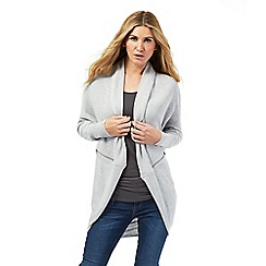 Nine by Savannah Miller - Pale grey cashmere blend cocoon cardigan