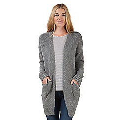 Nine by Savannah Miller - Grey knitted boyfriend cardigan