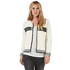 Nine by Savannah Miller - Ivory patterned cardigan