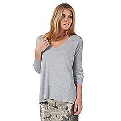 Nine by Savannah Miller - Grey oversized jumper