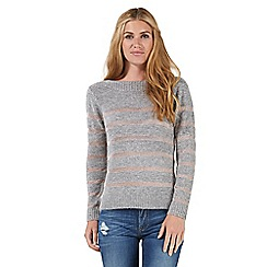 Nine by Savannah Miller - Grey metallic striped jumper