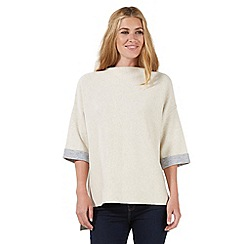 Nine by Savannah Miller - Ivory and grey double-faced poncho
