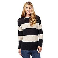 Nine by Savannah Miller - Navy striped mohair jumper