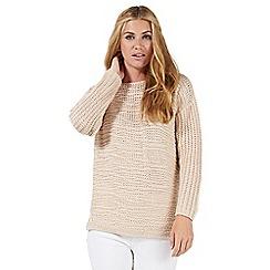Nine by Savannah Miller - Pink textured knit jumper