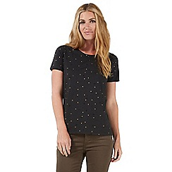 Nine by Savannah Miller - Dark grey star print t-shirt