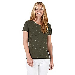 Nine by Savannah Miller - Dark green star print t-shirt