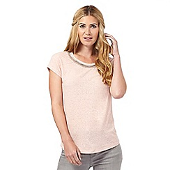 Nine by Savannah Miller - Pink embellished t-shirt