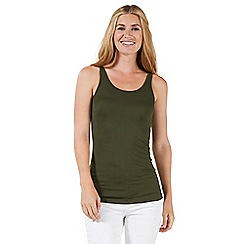 Nine by Savannah Miller - Dark green jersey long-line vest