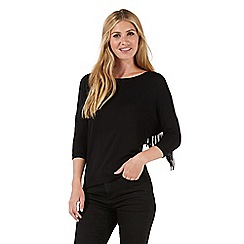 Nine by Savannah Miller - Black fringed top