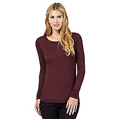 Nine by Savannah Miller - Dark red jersey top
