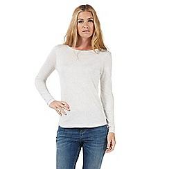 Nine by Savannah Miller - Ivory jersey top
