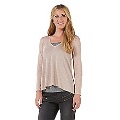 Nine by Savannah Miller - Pink metallic jersey top