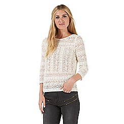 Nine by Savannah Miller - Cream textured lace top