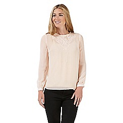 Nine by Savannah Miller - Pale pink embroidered blouse
