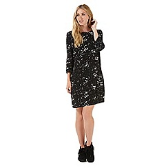 Nine by Savannah Miller - Black star print shift dress