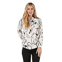 Nine by Savannah Miller - Pale pink 'Bloomsbury' swallow print shirt