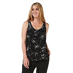 Nine by Savannah Miller - Black star print vest top