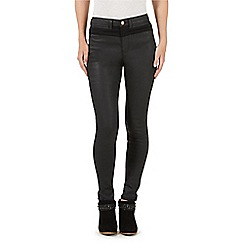 Nine by Savannah Miller - Black coated skinny jeans