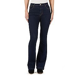 Nine by Savannah Miller - Dark blue high-waisted flared jeans