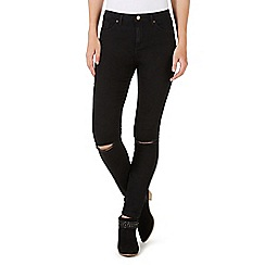 Nine by Savannah Miller - Black skinny ripped knee jeans