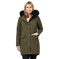 Nine by Savannah Miller - Khaki green parka coat