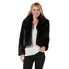 Nine by Savannah Miller - Black faux fur jacket
