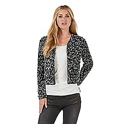 Nine by Savannah Miller - Black sequin embellished jacket