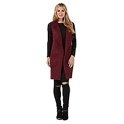 Nine by Savannah Miller - Dark red long-line waistcoat