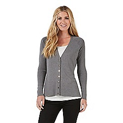 Nine by Savannah Miller - Grey metallic cardigan