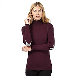 Nine by Savannah Miller - Dark red star detail roll neck jumper
