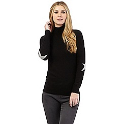 Nine by Savannah Miller - Black star detail roll neck jumper