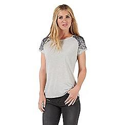 Nine by Savannah Miller - Grey sequin embellished t-shirt