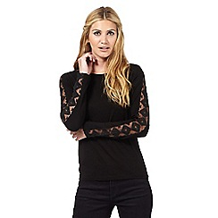 Nine by Savannah Miller - Black lace detail top
