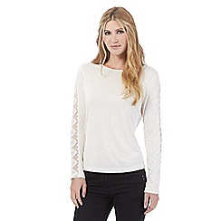 Nine by Savannah Miller - Ivory lace detail top
