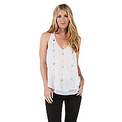Nine by Savannah Miller - Ivory embellished camisole top