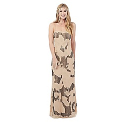 Nine by Savannah Miller - Neutral beaded evening dress