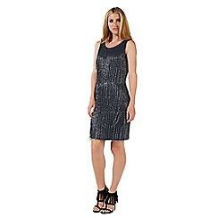 Nine by Savannah Miller - Dark grey beaded dress