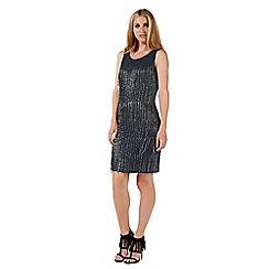 Nine by Savannah Miller - Dark grey beaded dress