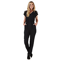 Nine by Savannah Miller - Black lace detail jumpsuit