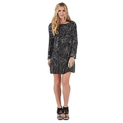 Nine by Savannah Miller - Black cosmic print shift dress
