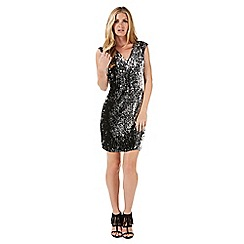 Nine by Savannah Miller - Silver sequinned dress