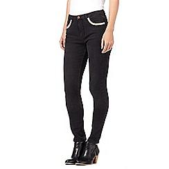Nine by Savannah Miller - Grey skinny embellished pocket jeans