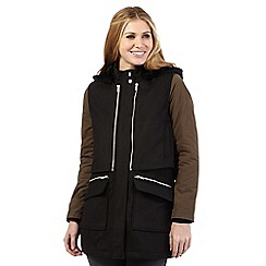 Nine by Savannah Miller - Black and green double layer padded coat