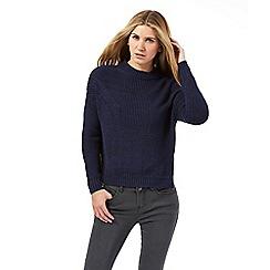 Nine by Savannah Miller - Dark blue chunky knit jumper
