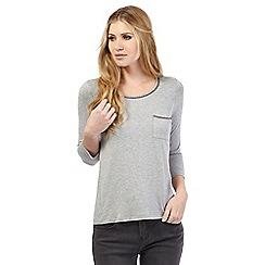 Nine by Savannah Miller - Grey braid detail jersey top