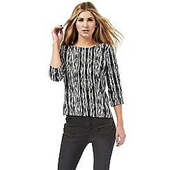 Nine by Savannah Miller - Black and white Aztec print top