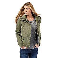 Nine by Savannah Miller - Khaki green short parka with gilet