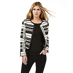 Nine by Savannah Miller - Black and white Aztec print jacket