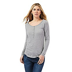 Nine by Savannah Miller - Pale grey grandad top